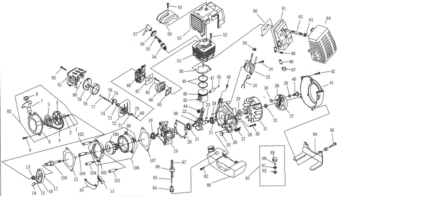 Weed Eater Engine Diagram Wiring Library Stihl Exploded View