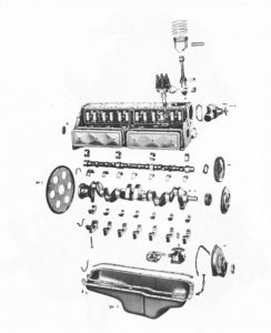 6 cylinder engine exploded view
