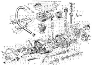 Ducati single engine exploded view