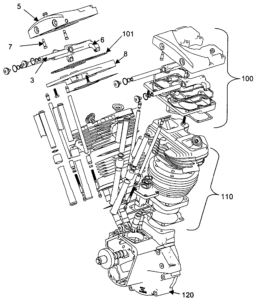 Harley Davidson Engine exploded view
